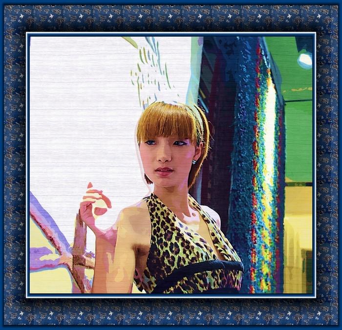尽心镜意作品:伯利玛的美女油画6