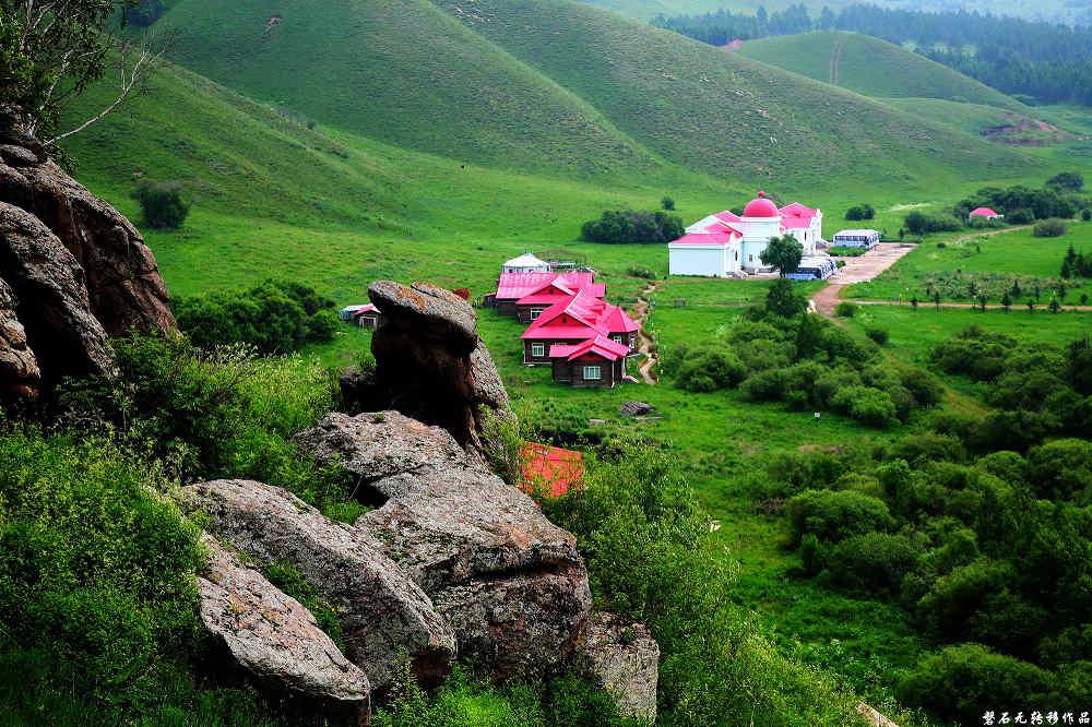 磐石无转移作品:以成吉思汗的视角俯视-玫瑰峰