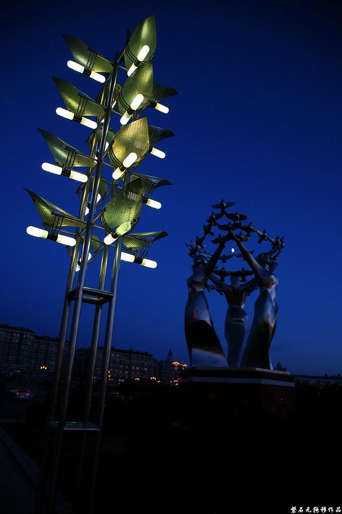 磐石无转移作品:满洲里之夜色