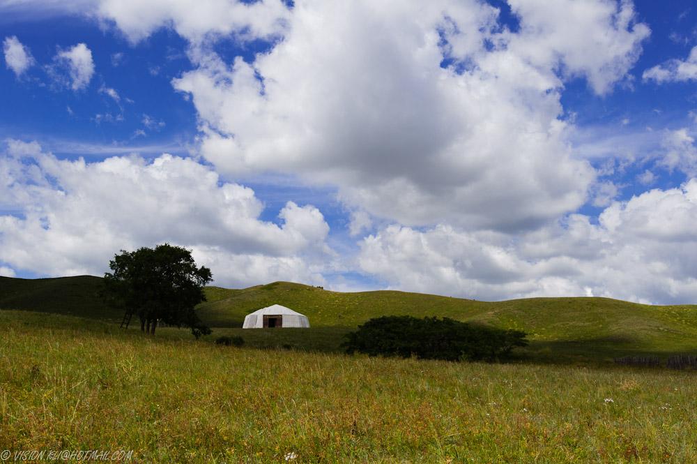 KLV作品:山坡上的蒙古包
