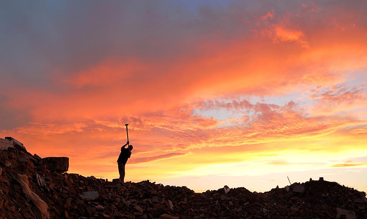 清晨的霞作品:夕阳下