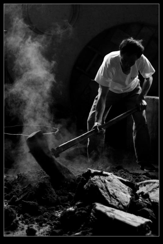达多作品:传统榨油工艺