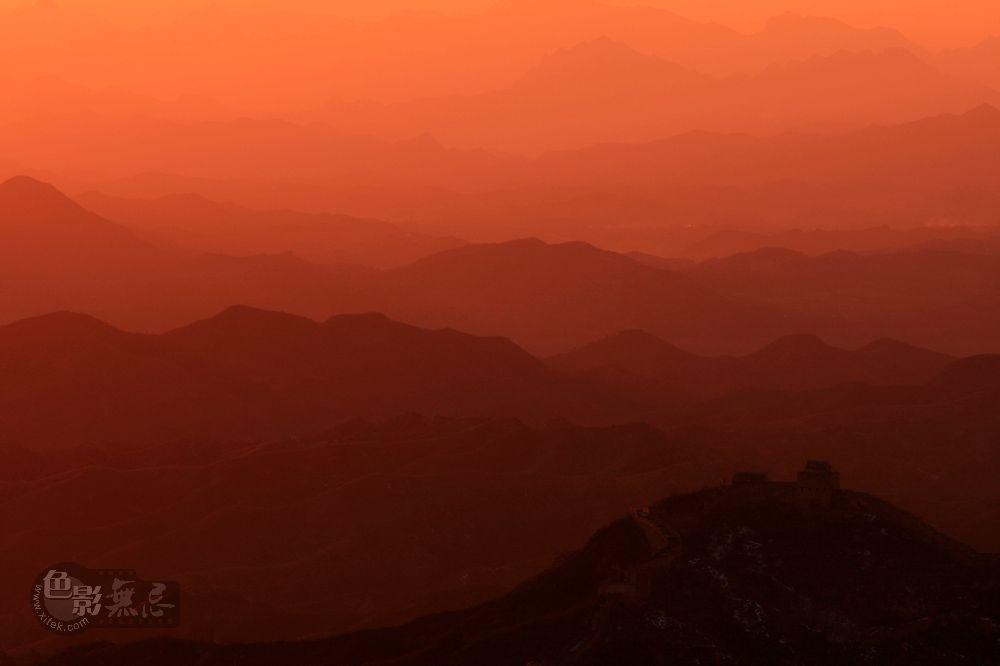 sunsaw作品:日落金山岭长城
