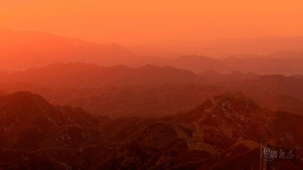 sunsaw作品:峰峦如聚--金山岭长城观日落