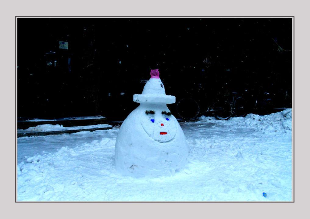 柞树林作品:小雪人