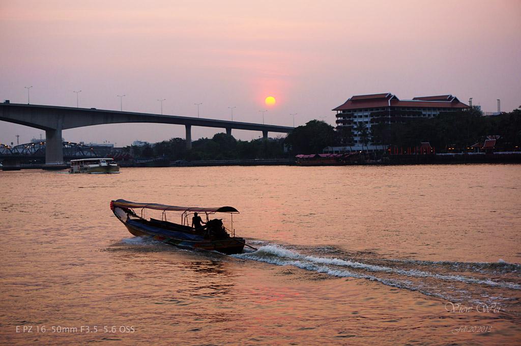 viewwei作品:湄南河夕照
