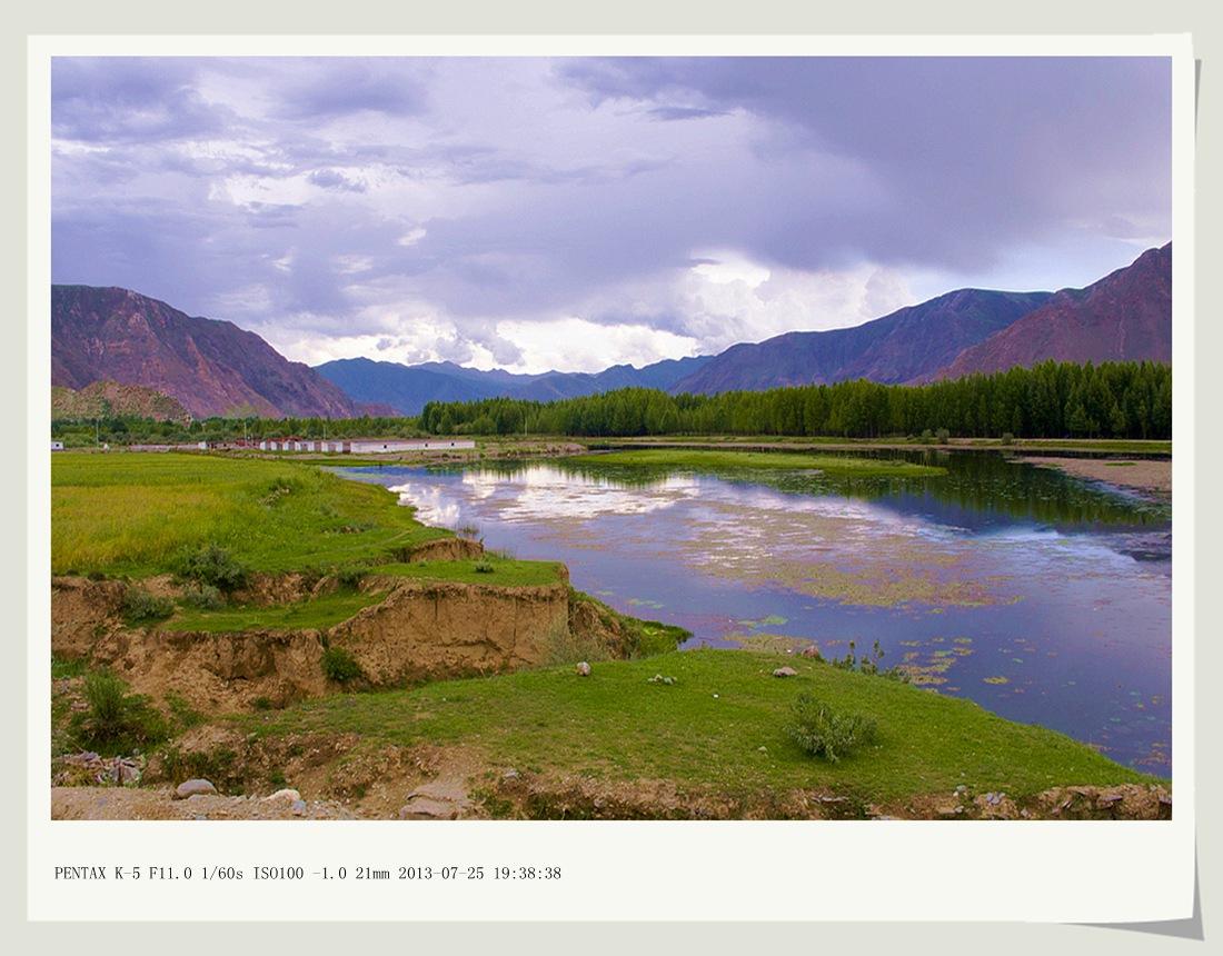 沙子2012作品:恬静的拉萨河