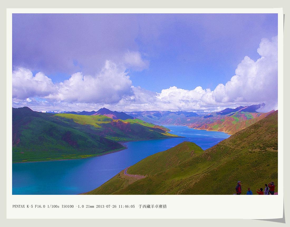 沙子2012作品:碧玉之湖  羊卓雍措