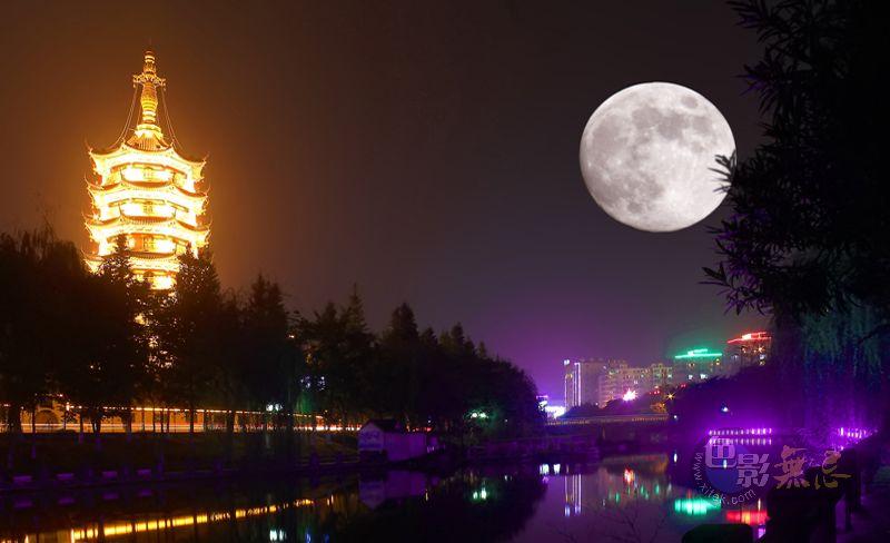 天堂里的小木屋作品:中秋月亮