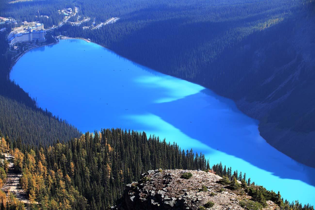 Rockies007作品:鸟瞰路易丝湖