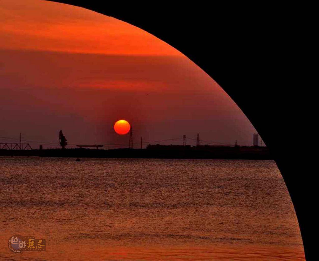 漂白烏雲作品:【橋。夕陽】