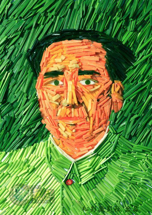 梦幻森林作品:毛主席创意肖像