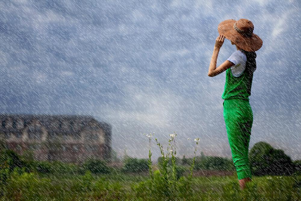 雷子1作品:在雨中......