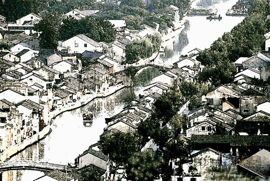 wuxi风雨飘渺作品:古运河速写