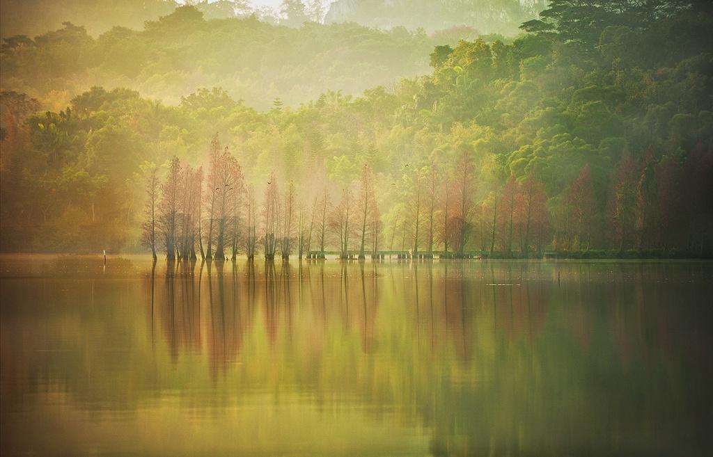 如风0758作品:静谧的湖畔