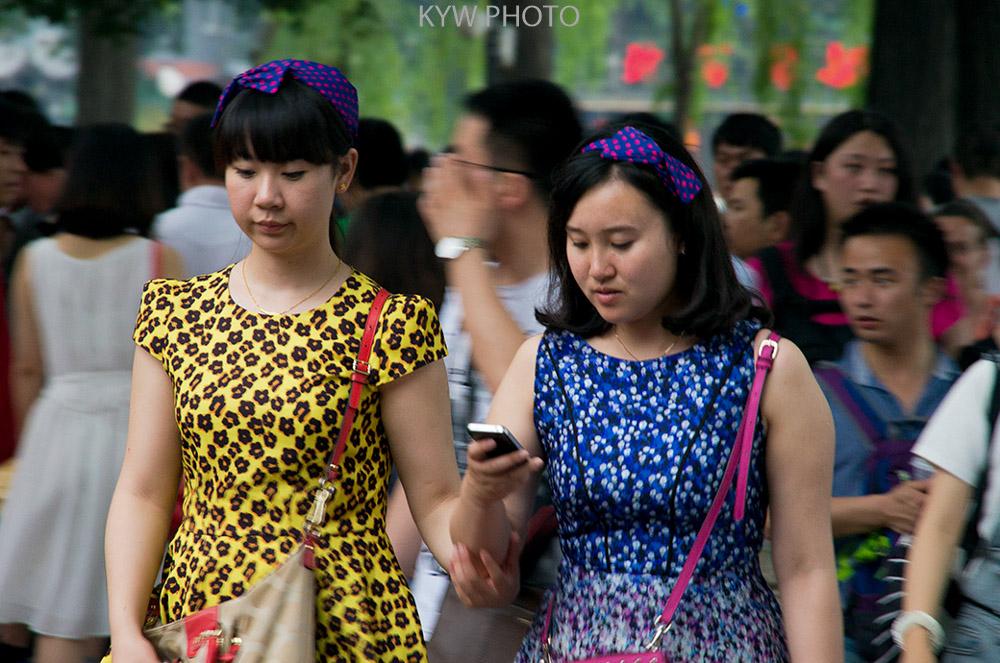 M8作品:北京什刹海游客