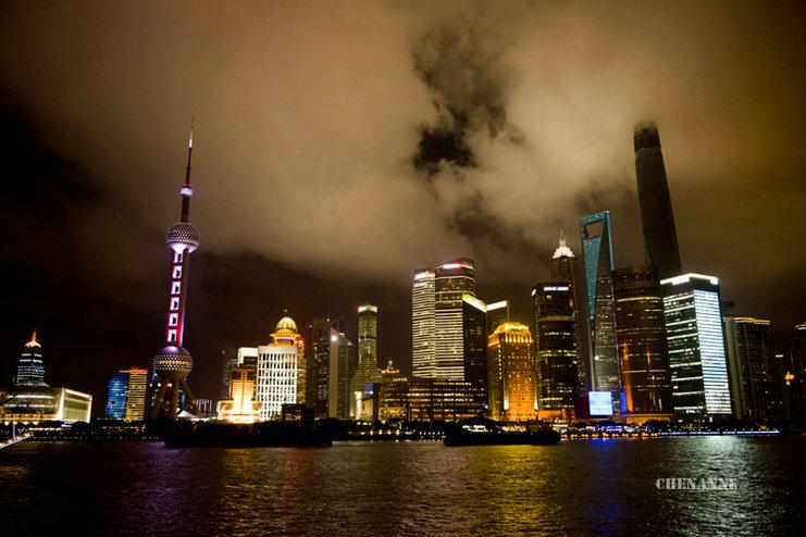 chenanne作品:上海滩夜景