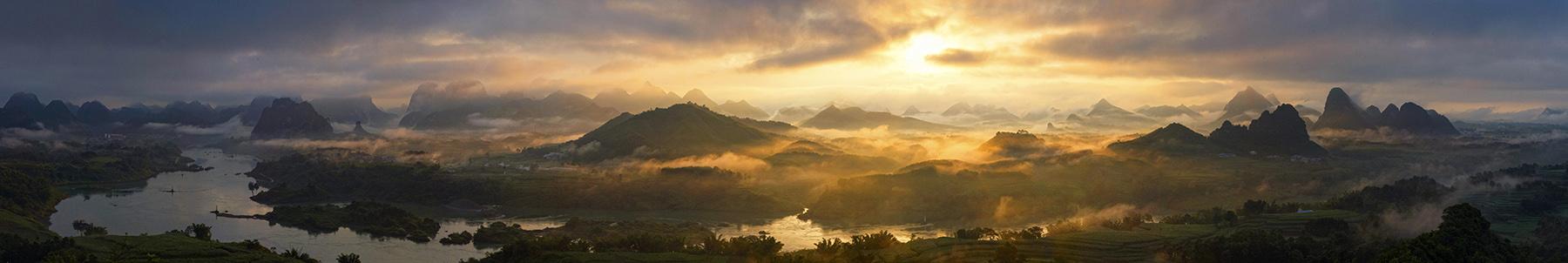 高林作品:红水河晨韵