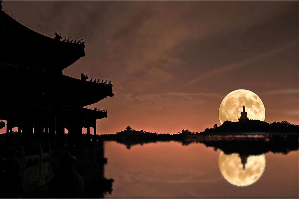 华汉作品:《琼岛月夜》