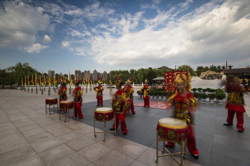 西安老李作品:芙蓉园的锣鼓表演