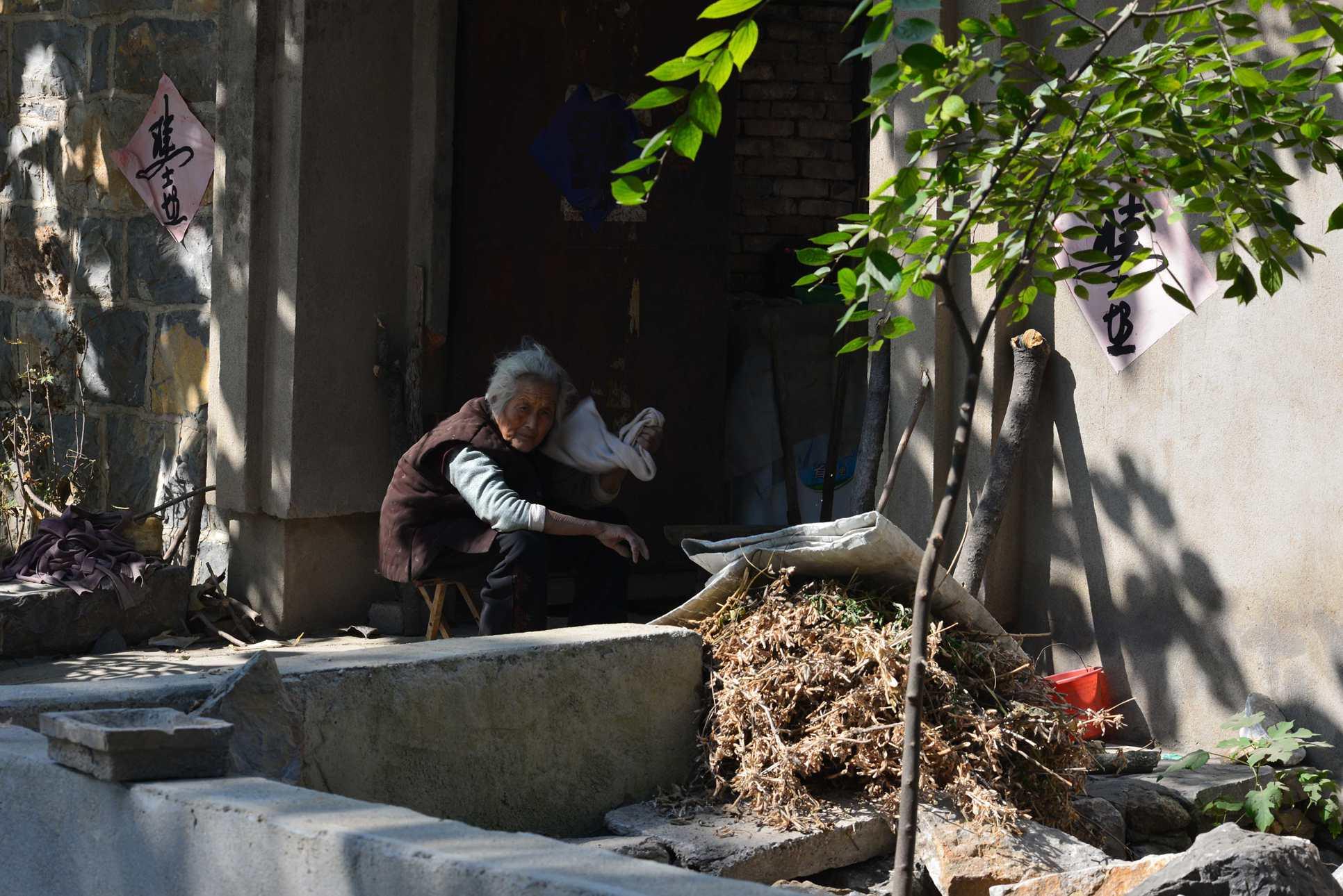 长江0081234作品:农村老人