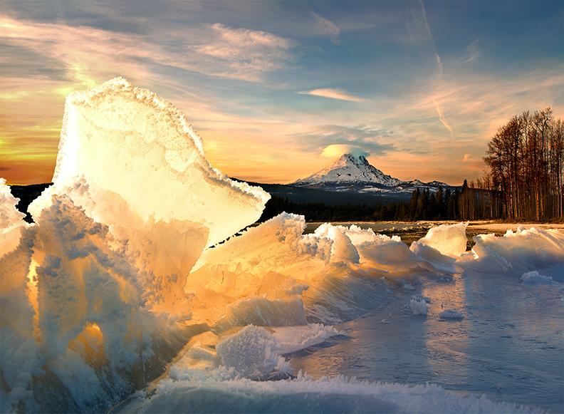 冬天的狼作品:大冰山