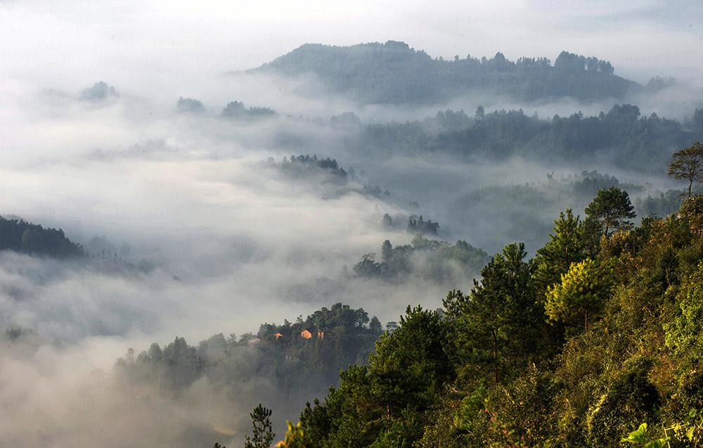 高林作品:瑶山迷雾