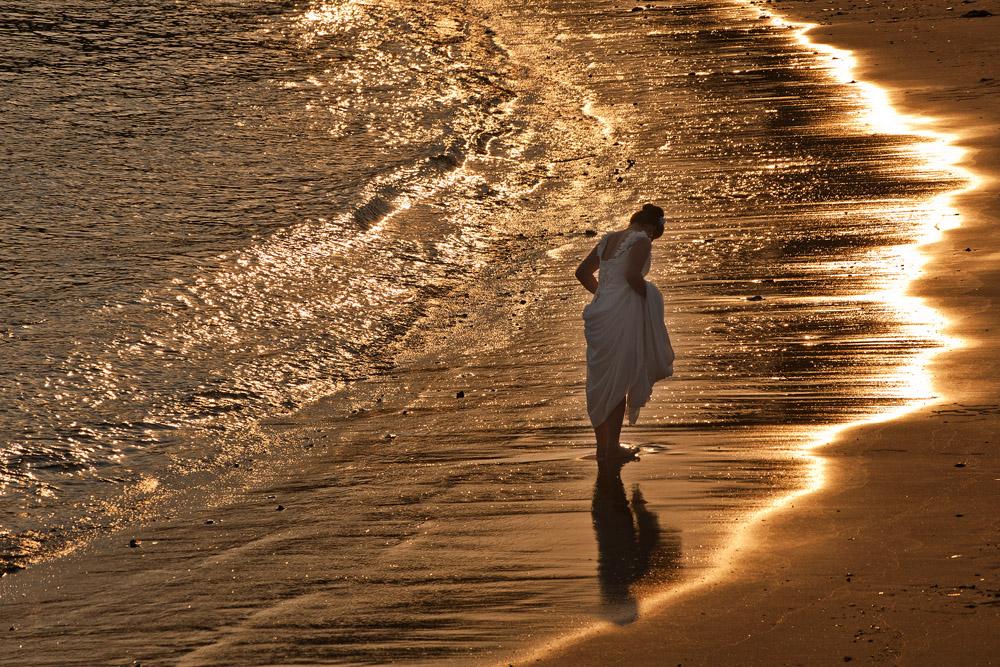 春光明媚作品:海滩上