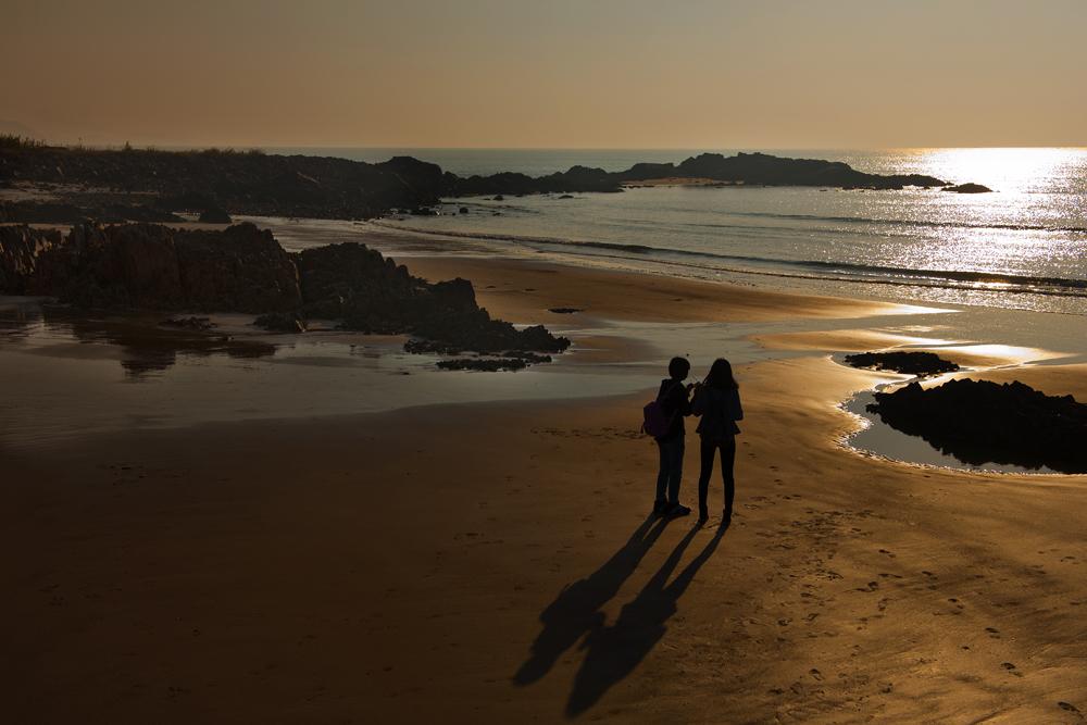 春光明媚作品:海滨的早晨