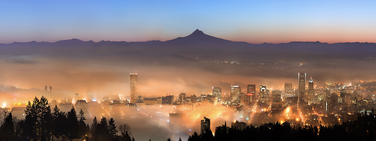 冬天的狼作品:雾漫山城