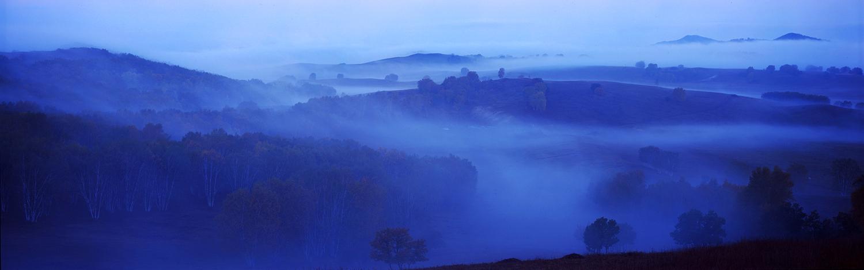 花果山作品:雾迷坝上