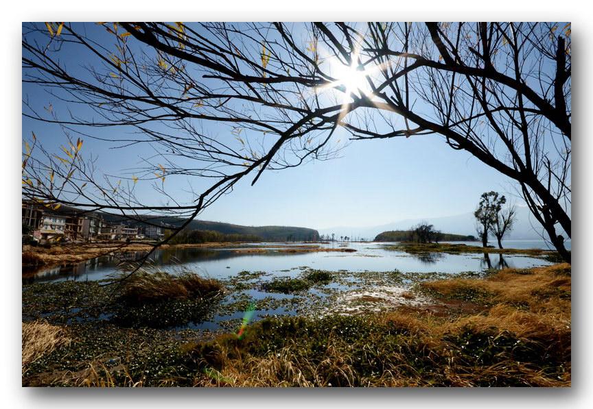 何影作品:洱海冬至