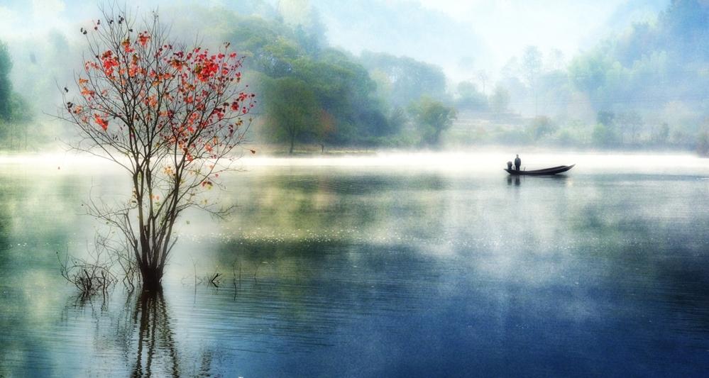 laogo作品:红叶秋水