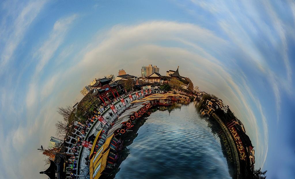 yuanpx作品:夫子庙的天与水