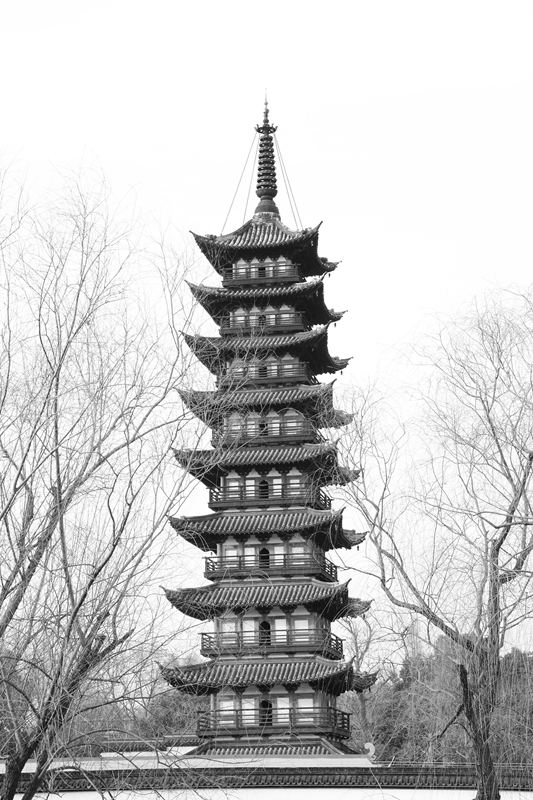 水墨禅心作品:古韵方塔