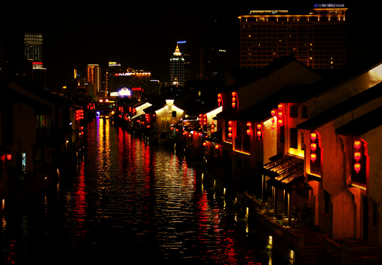 淮上人家作品:古运河之夜