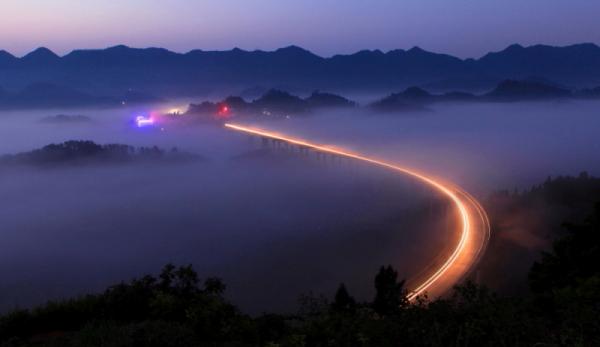 重庆洋洋洋作品:重庆周家山大桥晨曦