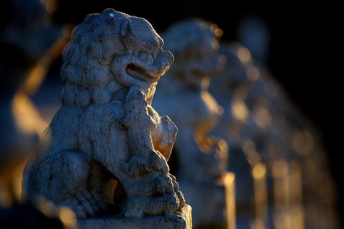 黄赛作品:石狮(颐和园)