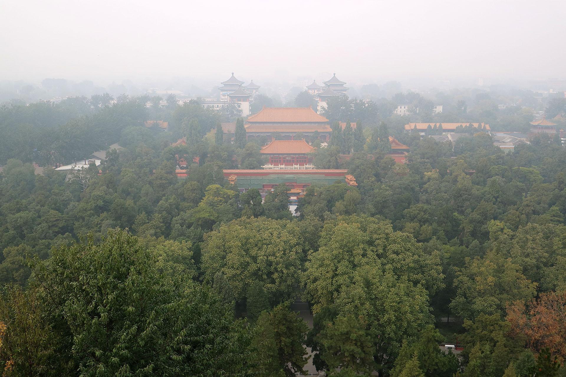 lantian作品:楼阁尽在霾雾中