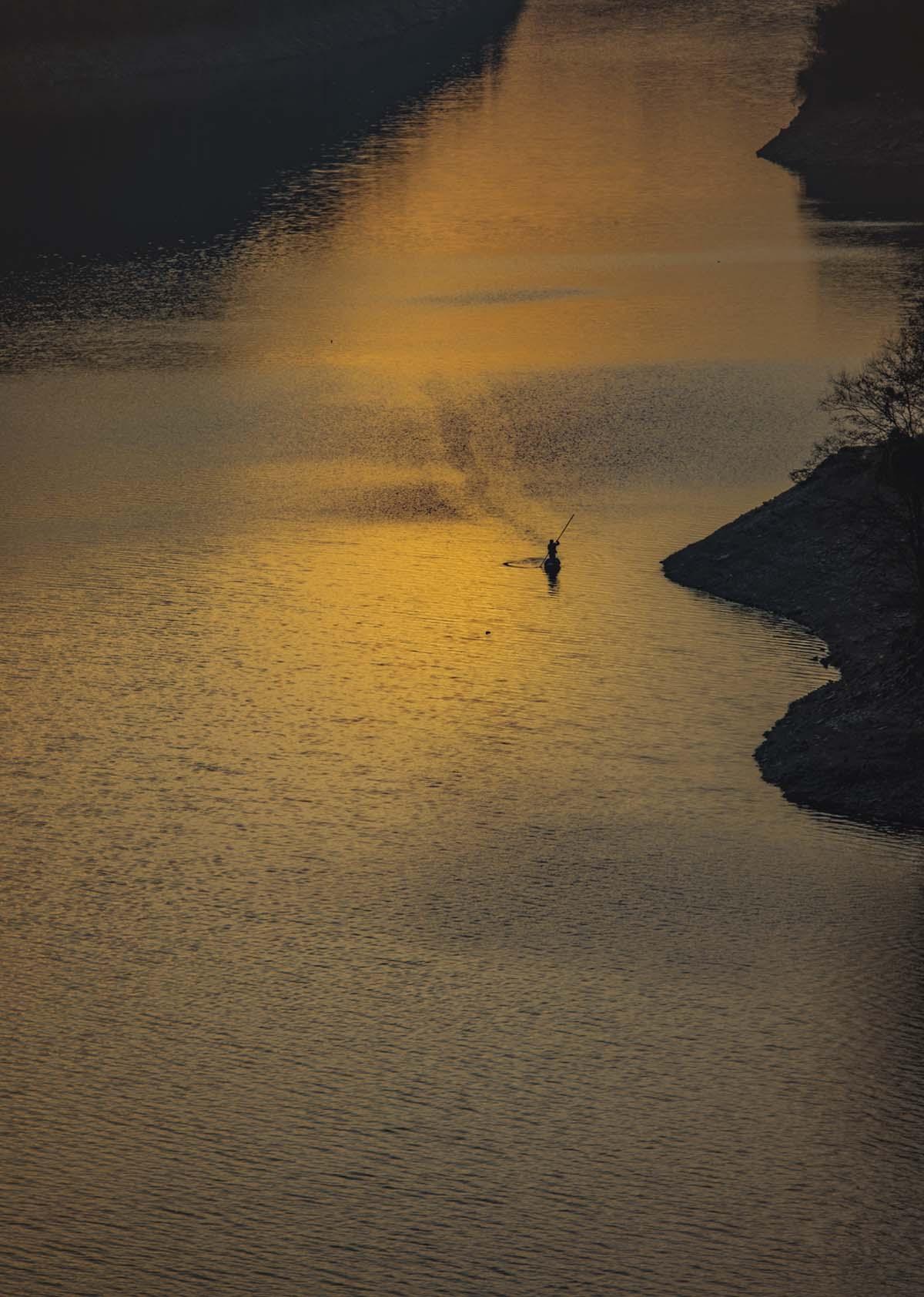 子仪作品:渔舟唱晚