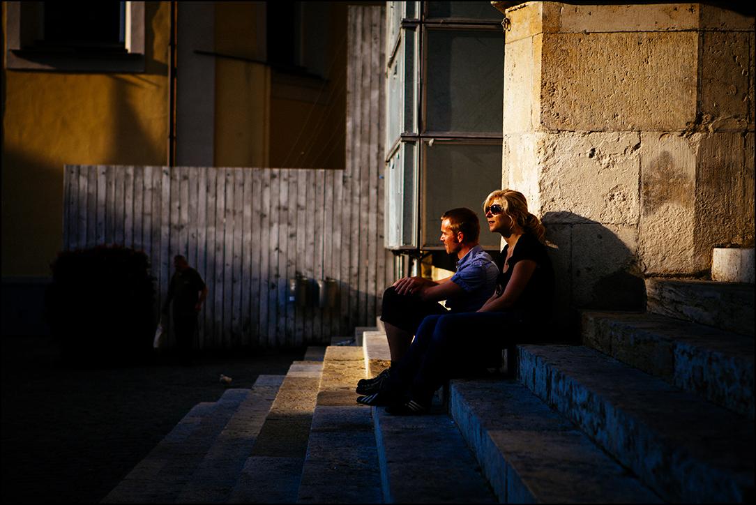心随行作品:夕阳下的情侣