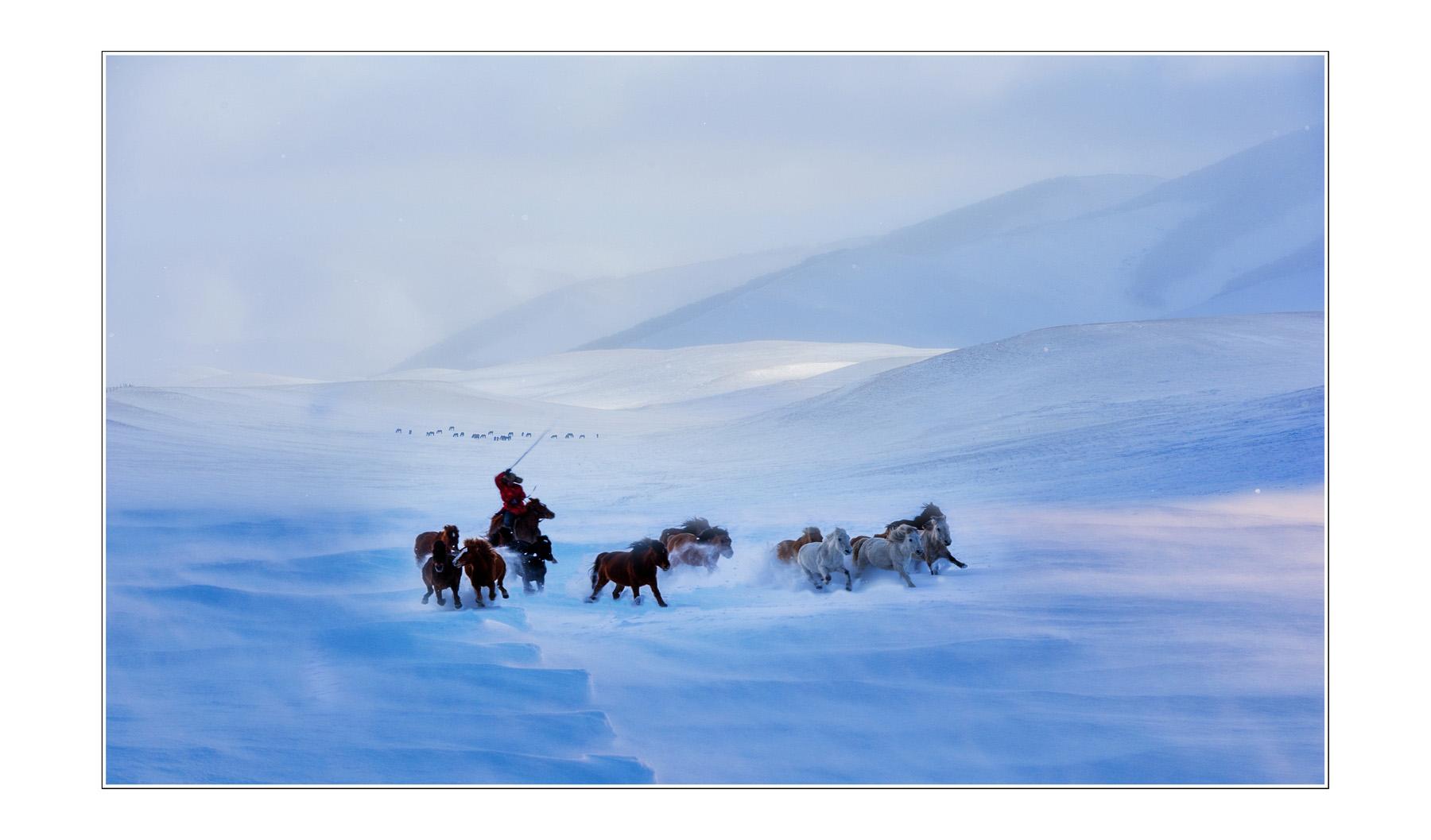 山海原野作品:驰骋雪野