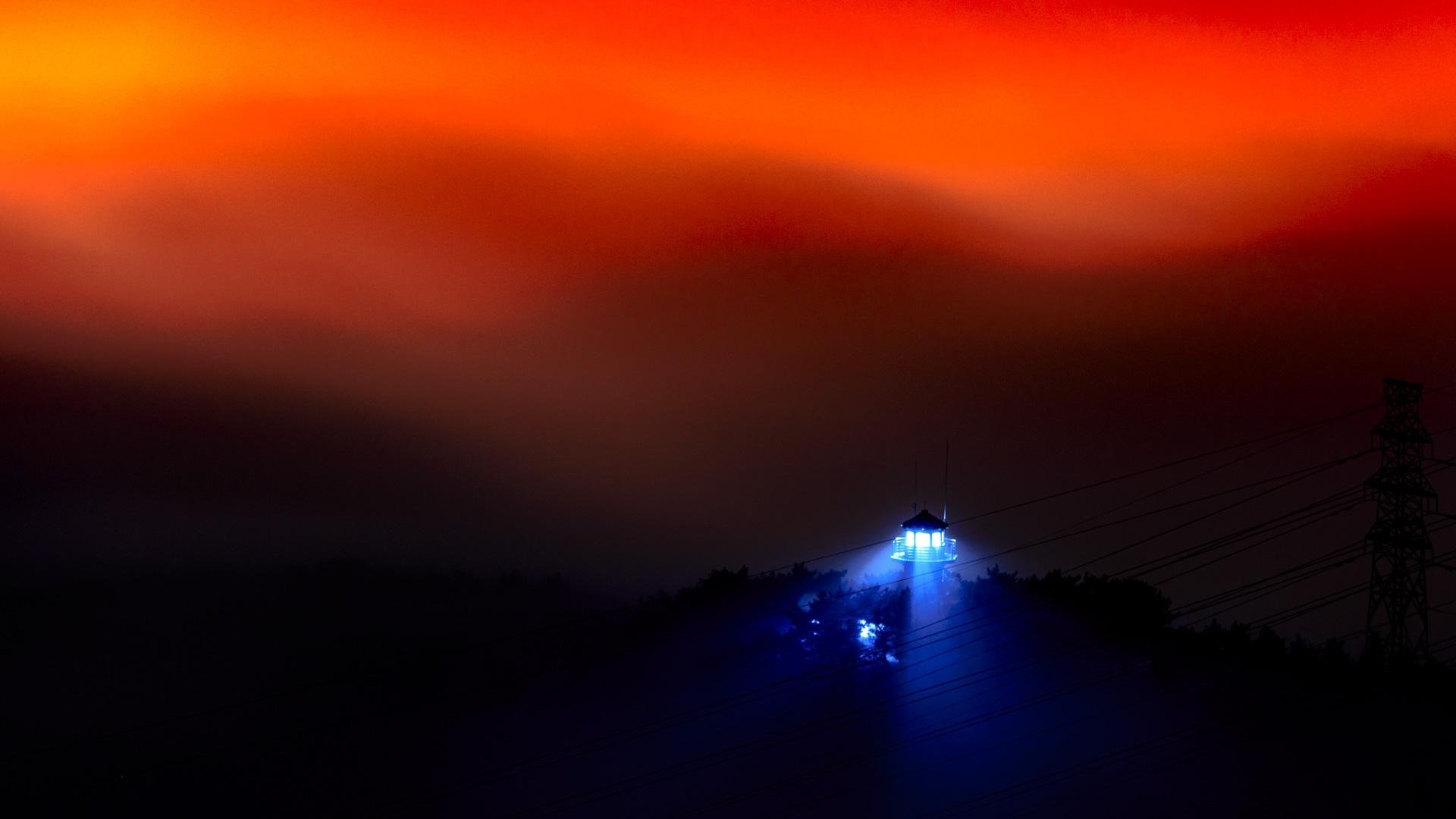 东行健作品:夜雾