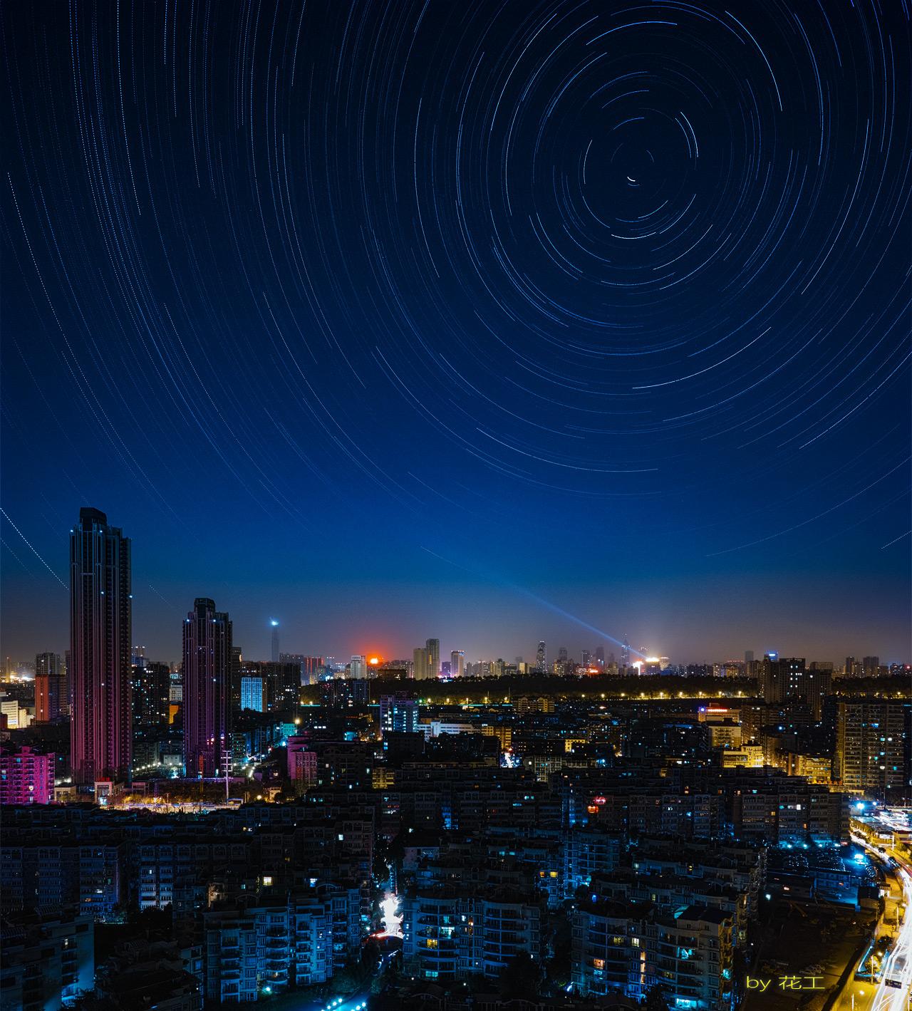 花工作品:城市夜空