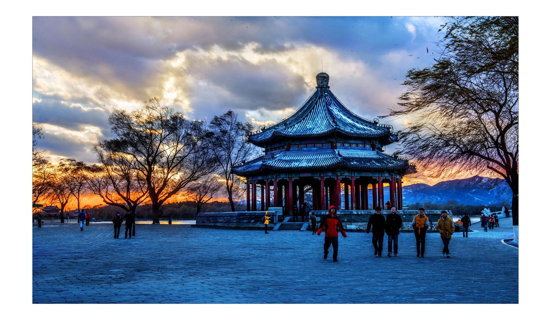 山海原野作品:冬日颐和园