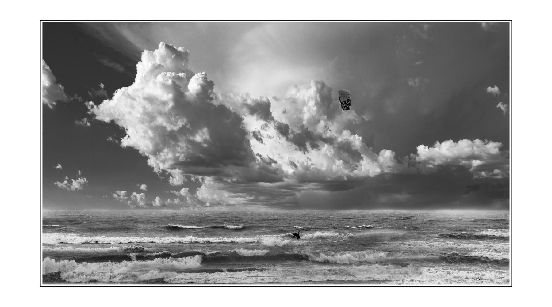 山海原野作品:海天云浪