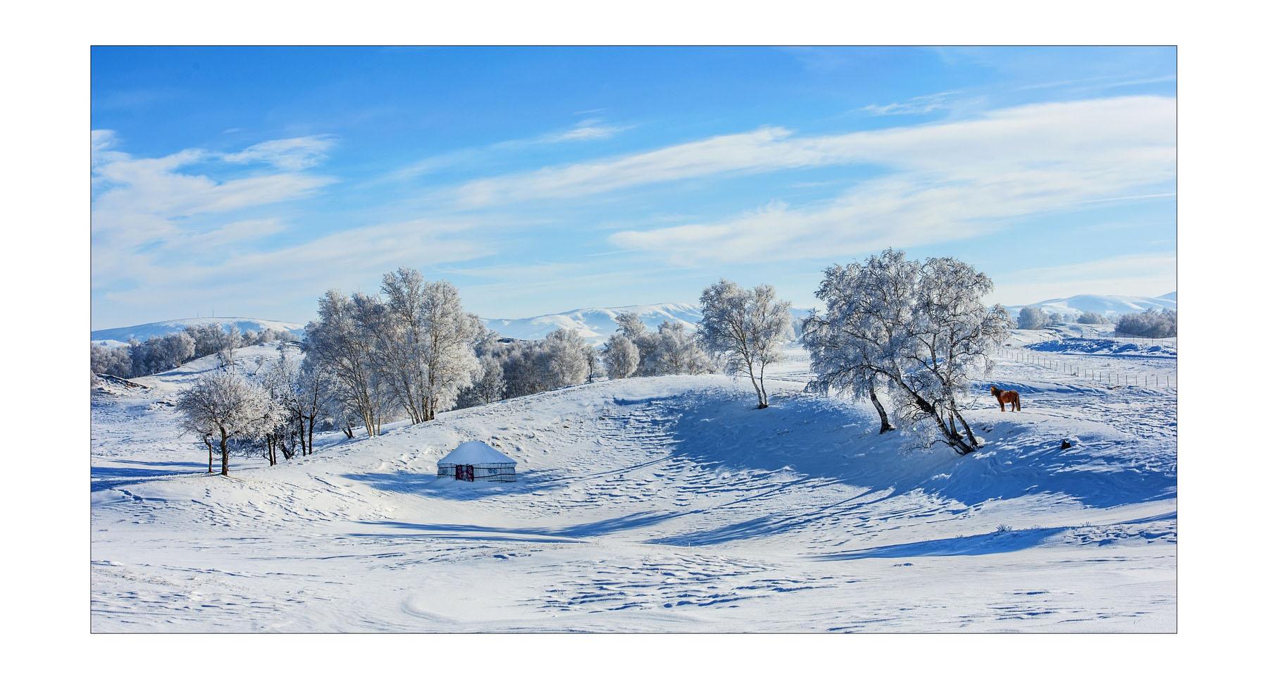 山海原野作品:冬日坝上