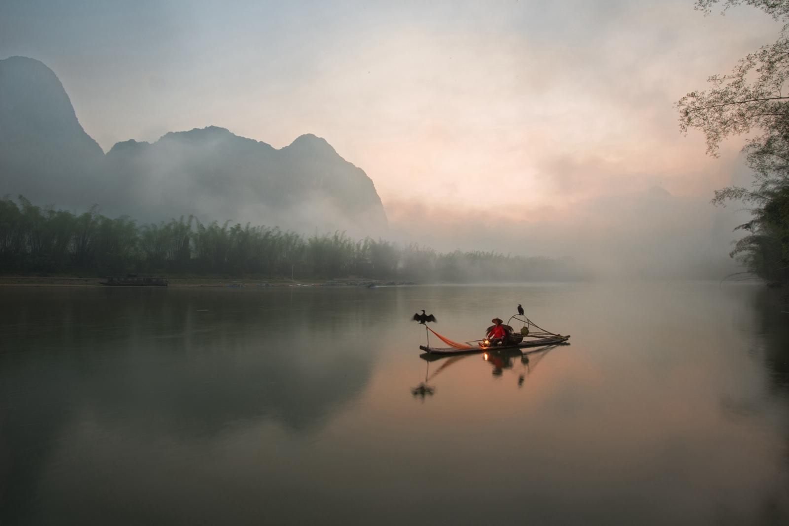 如风0758作品:《清晨的漓江》