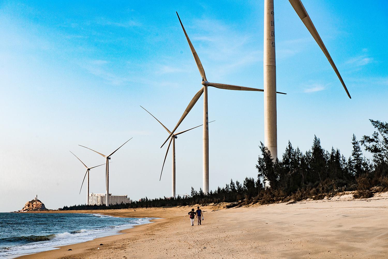 海军山作品:风车海岸