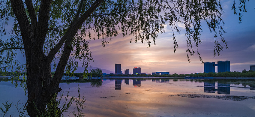 泼墨天堂作品:金水湖景色